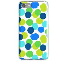 Polka dot print in blue green random colors iPhone Case/Skin