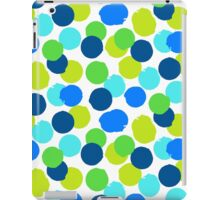 Polka dot print in blue green random colors iPad Case/Skin
