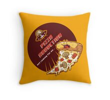 Pizza Abduction Throw Pillow