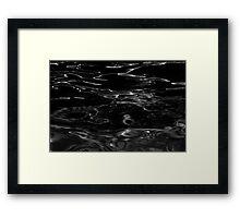 Black Velvet Liquid - Abstract Art Framed Print