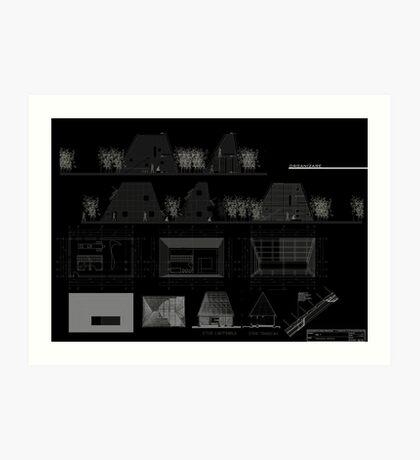 Ansamblu de locuinte individuale. Exercitiu conceptual Art Print