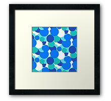 Polka dot print in blue colors Framed Print