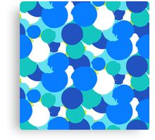 Polka dot print in blue colors Canvas Print