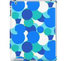 Polka dot print in blue colors iPad Case/Skin