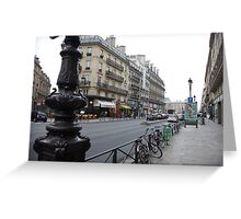 cityscapes #139, grey street Greeting Card