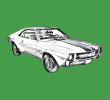 1969 AMC Javlin Car Illustration Baby Tee
