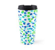 Small polka dot print in blue green colos Travel Mug