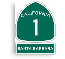 PCH - CA Highway 1 - Santa Barbara Canvas Print