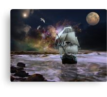 Her Guiding star.. Canvas Print