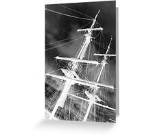 Ghost Masts Greeting Card