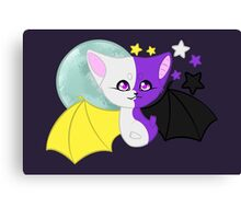 Nonbinary Pride Bat Canvas Print