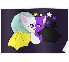 Nonbinary Pride Bat Poster