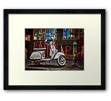 Back Street Vespa Framed Print