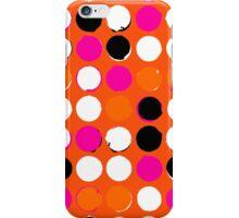Orange dots iPhone Case/Skin