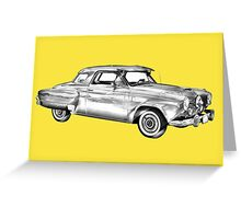 Studebaker Champion Antique Car Illustration Greeting Card