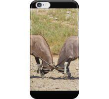 Gemsbok Dominance - Fighting for Rights iPhone Case/Skin