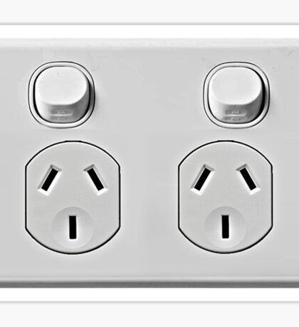 Electrical Outlet - Type i Sticker