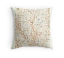 Massachusetts  USGS Historical Topo Map MA Chesterfield 352563 1888 62500 Throw Pillow