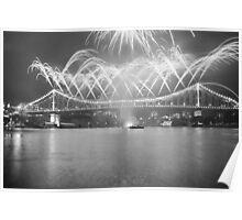 Story bridge telling the fireworks story Poster
