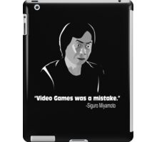 Video Games was a Mistake  iPad Case/Skin
