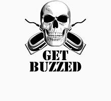 Barber Skull: Get Buzzed Unisex T-Shirt