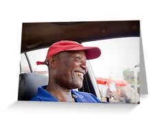 Happy taxi Greeting Card