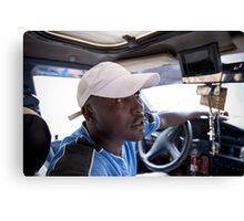 Boss the Taxi driver Canvas Print