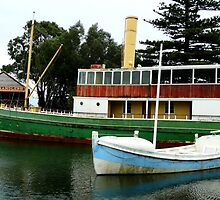 Old boats by Janette Anderson