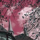 """""""Double Steeples""""* - in Mauve by Deb  Badt-Covell"""