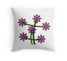 Open world in flowers Throw Pillow