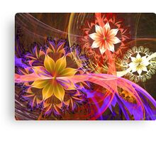 Out Among the Flowers Canvas Print