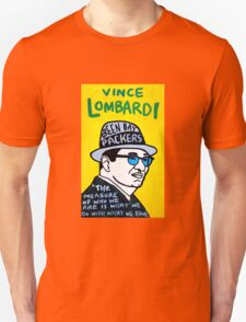 Vince Lombardi Pop Folk Art Unisex T-Shirt
