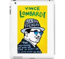 Vince Lombardi Pop Folk Art iPad Case/Skin