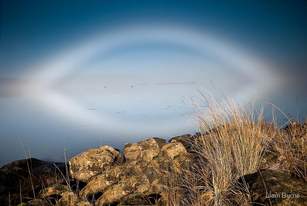 Fogbow - Great Lake, Tasmania by Liam Byrne