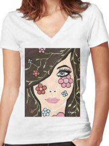 Betty Women's Fitted V-Neck T-Shirt
