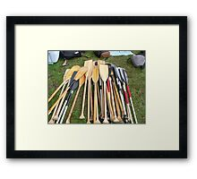 Paddles Framed Print
