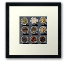 spice selection in jar Framed Print