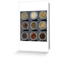 spice selection in jar Greeting Card