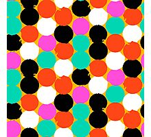 Colorful circles pattern Photographic Print