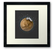Lost in a Space / Marsporror Framed Print