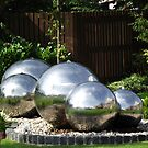 Chrome Balls water feature  by Dawnsuzanne