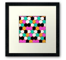 Colorful circles print Framed Print