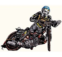 Chris Holder, Australian speedway, 2010 British Grand Prix winner Photographic Print