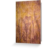 grass and leaves Greeting Card