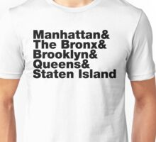 Five Boroughs ~ New York City Unisex T-Shirt