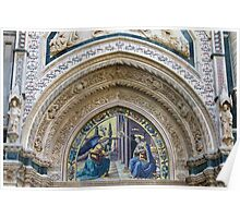Florence Cathedral Architectural Detail 2 Poster
