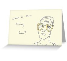 Camel Specs- where is this coming from? Greeting Card
