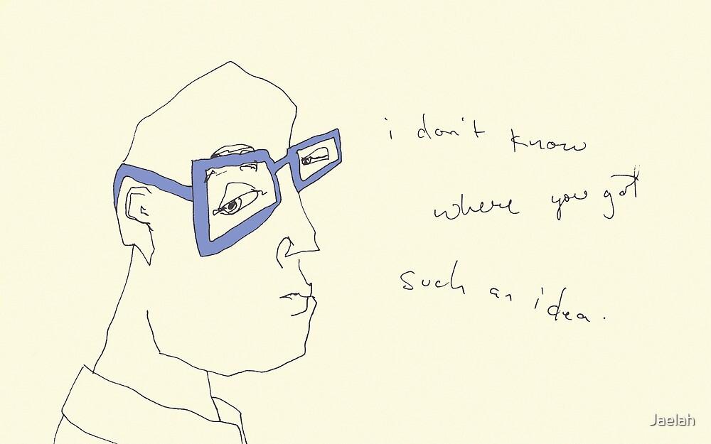 Cornflower Blue Specs- i don't know where you got such an idea. by Jaelah
