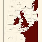 Shipping Forecast - red and cream by beebrady