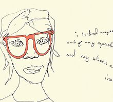 Salmon Specs- i locked myself out of my apartment and my shoes are inside... by Jaelah